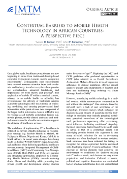 Contextual Barriers to Mobile Health Technology in African Countries