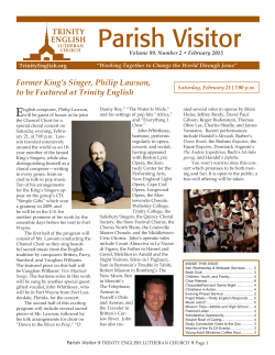 newsletter - Trinity English Lutheran
