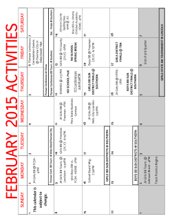 Monthly Calendar - Sterling Public School