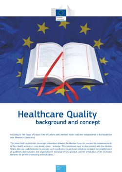 Healthcare Quality background and concept