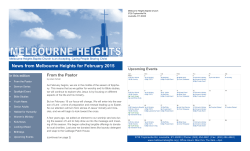 Current Newsletter - Melbourne Heights Baptist Church