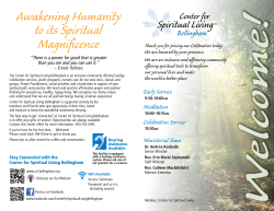 ng Humanity Spiritual nificence - Center for Spiritual Living Bellingham