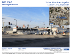 FOR SALE Development Site Prime West Los Angeles (Culver City