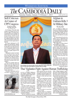 The Front Page - The Cambodia Daily