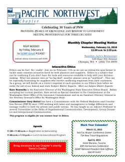 Monthly Chapter Meeting Notice