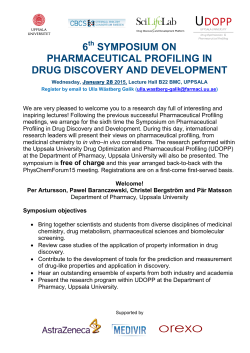 6th Symposium on Pharmaceutical Profiling in Drug Discovery and