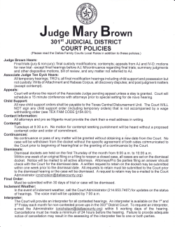 Judge M ary Brown