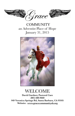 Bulletin for Saturday, January 31 - Santa Barbara Seventh-Day