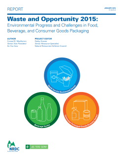 Waste and Opportunity 2015 - Natural Resources Defense Council