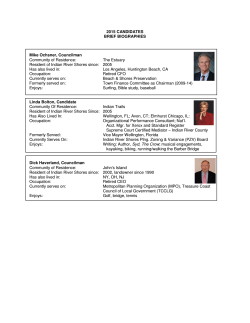 2015 Town Council Candidate Bios
