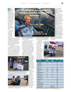 flyRTW80 story featured on NAV CANADA NEWS click to see PDF file.