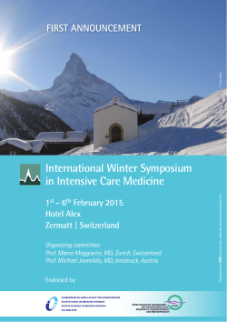 International Winter Symposium in Intensive Care Medicine 1st