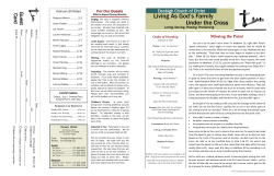 Bulletin - Denbigh Church of Christ