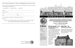 HERE - Plainfield Historical Society
