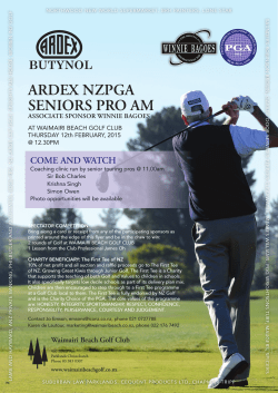 ARDEX NZPGA SENIORS PRO AM