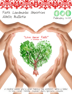 monthly bulletin - Faith Landmarks Ministries