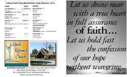 Bulletin - grant reformed church