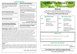 View our weekly - loughtonmethodist.org.uk
