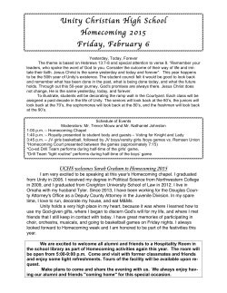 Bulletin - Unity Christian High School