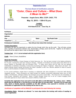 Registration Form - Iowa Board of Certification
