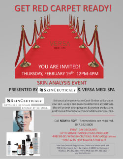 skin analysis event - Van Dam Dermatology and Laser Center