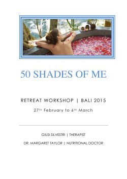 50 Shades Of Me Bali Workshop