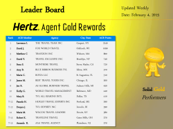 Leader Board - Hertz Agent Gold Rewards