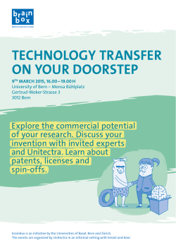 Technology Transfer on your doorsTep
