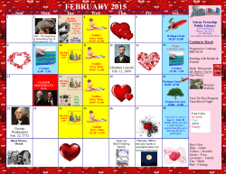 FEBRUARY 2015 - the Salem Township Public Library