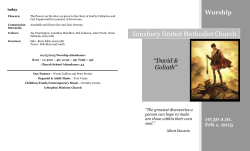 bulletin - Simsbury United Methodist Church