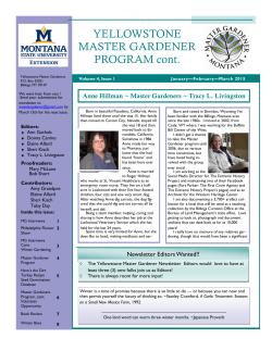 January/February/March 2015 - yellowstone county master gardener