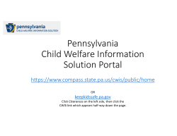 Pennsylvania Child Welfare Information Solution Portal