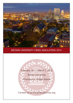 here - Brown University Crisis Simulation
