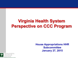 Virginia Health System Perspective on CCC Program