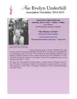 our 2014-2015 Newsletter - the Evelyn Underhill Association