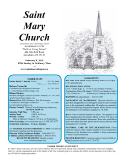 This Week - St. Mary Church