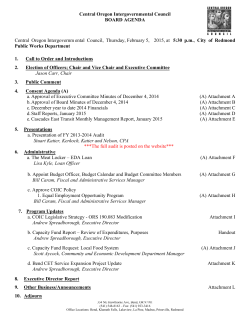 Central Oregon Intergovernmental Council BOARD AGENDA
