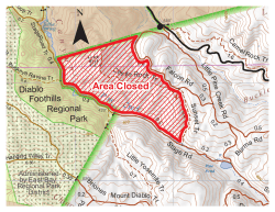 Area Closed - East Bay Regional Park District