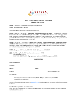 workshop flyer - Clark County Family Child Care Association