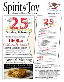February 2015 - Spirit of Joy
