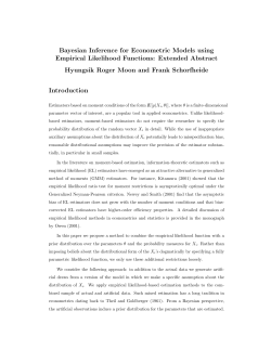 Bayesian Inference for Econometric Models using Empirical