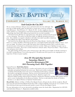 February 2015 - First Baptist Church of Galesburg