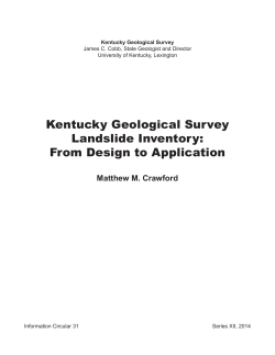 Kentucky Geological Survey Landslide Inventory: From Design to