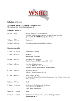 Schedule of Events - State Bar of New Mexico