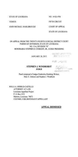 STEPHEN J. WINDHORST APPEAL DISMISSED