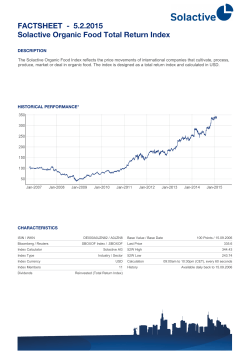 FACTSHEET - Solactive Organic Food Total Return Index 30.1.2015