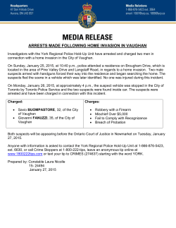 arrests made following home invasion in vaughan