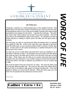Bulletin - Waynesboro Church of Christ