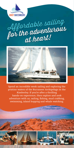 Ahoy Buccaneers Brochure - Affordable Kimberley Cruises with