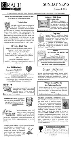 SUNDAY NEWS - Gracetampa.org
